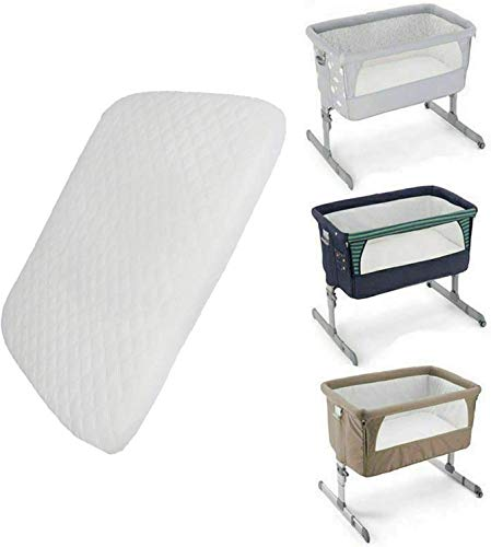 Soo Comfy Next2Me Chicco Crib Mattress Compatible Bedside Toddler Deluxe Crib Next to Me Comfortable & Fitted Infant Baby Mattress Breathable & Washable (83x50x5cm)