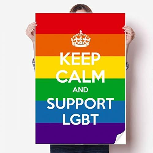 DIYthinker Regenboog Transgender Biseksuelen Vlag Lgbt Vinyl Muursticker Poster muurschildering Wallpaper Room Decal 80X55Cm