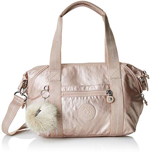 Kipling Art Mini, Cartables femme, Or (Metallic Blush), 18.5x34x21 cm (B x H T)