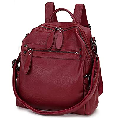 Backpack Purse for Women, PU Leather Fashion Convertible Backpack Shoulder Bag Ladies Rucksack in 2 Ways to Carry VONXURY