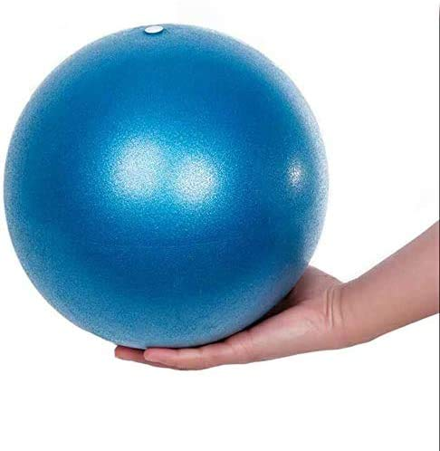 Fresion Gymnastikball Yoga Pilates Ball Kleine Übung Ball, 25cm Dicker Anti-Burst Gymnastikball inkl Ballpumpe, Weich Pilates Ball, Fitness Ball für Yoga,Heim, Büro,Sitzball, Blau