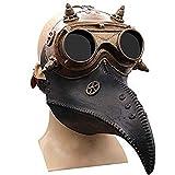 Máscara de doctor de Peste de Ochenta Péscara Negra Pájaro Steampunk Gas Disfraces Larga Nariz...
