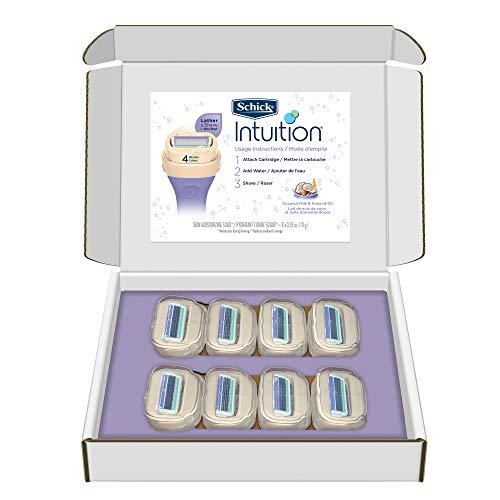 Schick Intuition Pure Nourishment Razor Blade Refills with Coconut Milk and Almond Oil for Women, 8...