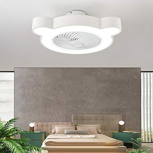 Φ60cm Infantil Dormitorio Ventilador Techo con LED Luz Y Mando, 3 Velocidades con Temporizador Regulable Lamparas Ventilador De Techo 50W Sala Silencioso Lamparas Ventilador De Techo