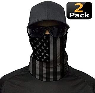 XLike Face Mask Blackout USA Flag Bandana (2 Pack)