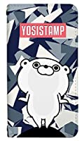 スマホケース 手帳型 iPhone 8 ケース 手帳 かわいい キャラクター 動物 アニマル うさぎ クマ LINE ヨッシースタンプ デザイン おしゃれ おもしろ 0209-C. クールくまさん_ラインスタンプ [iPhone8] カバー アイフォン エイト ケース 人気 ベルトなし スマホゴ