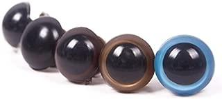 WXLAA 5 Pairs 18mm Eyes For Teddy Bear Craft Plastic Eyeballs Stuffed Animal Dolls Toys Safety Plastic Snap