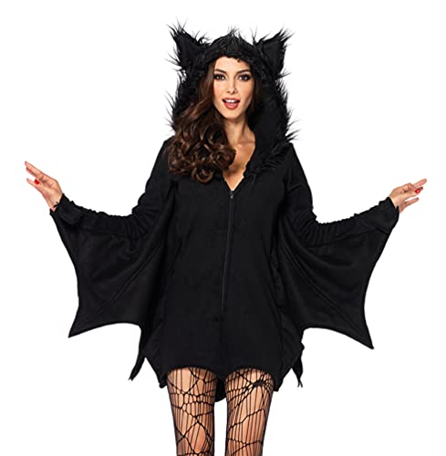 Leg Avenue womens Leg Avenue Women's Cozy Black Bat Halloween Adult Sized Costumes, Black, X-Large US