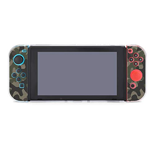 Protective Case Cover for Nintendo Switch Camouflage Netting Forest Coloring Abstract Military Army Spotted Camouflage Dockable Case Compatible with Nintendo Switch Console and Joy-Con Controller
