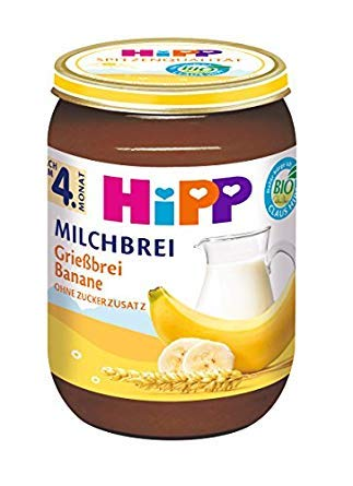HiPP Grießbrei Banane, 12er Pack (12 x 190 g)