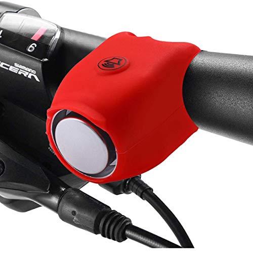 Bellagull Elektronische Fahrradhupe,Elektrische Fahrradklingel Fahrrad Elektrisches Horn Glocke Fahrradglocken Laut Klingel Wasserdicht Fahrradhorn Zubehör Mountainbike 110db (Rot)