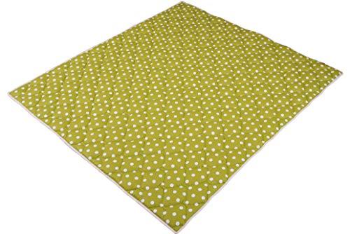 IDEENREICH Baby Krabbeldecke Krabbeltraum  Punkt grün  RUTSCHFEST   130x150cm   ideal als Spieldecke, Krabbeldecke und Laufgittereinlage