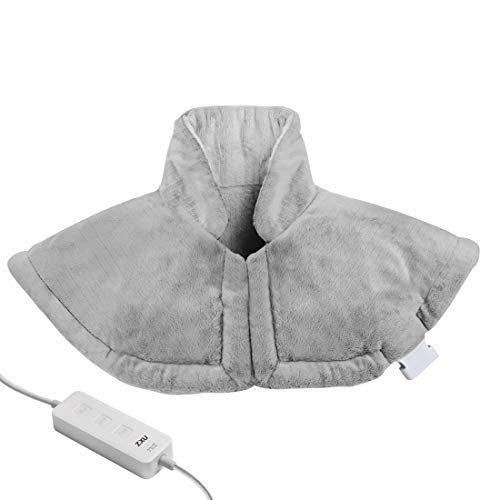 """Heating Pad for Neck and Shoulder,Electric Heated Neck Wrap for Upper Back Pain and Cramps Relief with Auto Shut Off, 1.9lb, 20""""x25"""",Moist & Dry Heat,3 Heat Setting, by ZXU"""