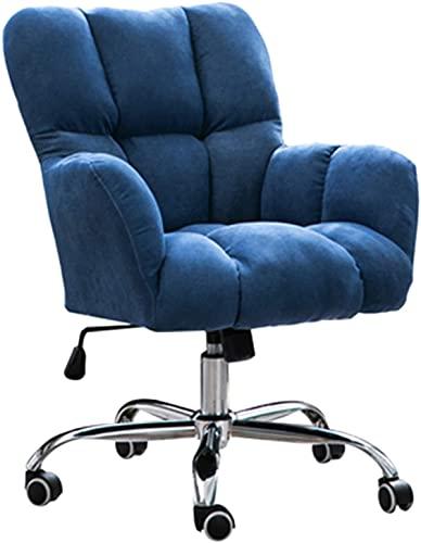 KMatratze Silla de Silla ergonómica de Oficina, sillón de Oficina Silla giratoria con Respaldo Central y Silla de Escritorio de Soporte Lumbar (Color : Dark Blue)