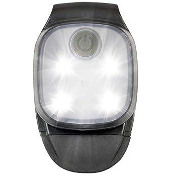 Lampe Frontale LED Lampe de Sécurité avec Clip pour Sports Extérieur Enfant Vélo Running Camping, 4 Modes d'Éclairage Rechargeable via USB LED Blanche Rouge à Fixer sur Vêtements, Sac à Dos