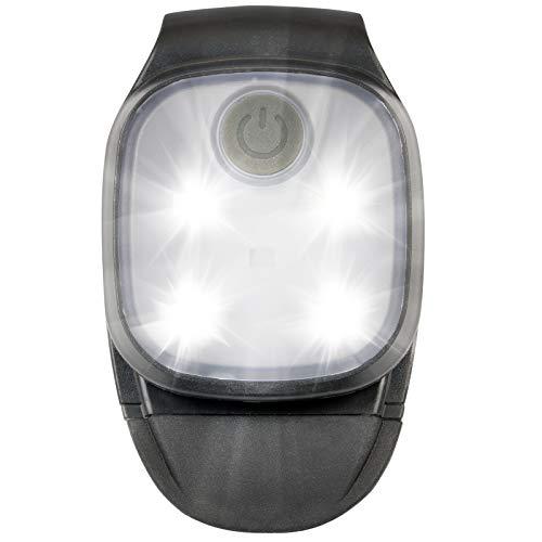 Linterna Frontal LED Lámpara de Cabeza, Luz Impermeable para Camping, Bicicleta, Trail Running, Marcha, Escolares 2 Modos: LED Bianco e Rosso, a fijar en los pantalones, Ropa, Mochila, Gorro