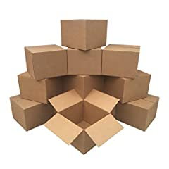 """Large Moving Boxes 20"""" x 20"""" x 15"""" Quantity: Pack of 12 Moving Boxes High Quality 32 ECT - 65 lbs. Maximum Gross Weight Capacity - Made In The USA Large boxes for moving items like kitchen supplies, pillows, clothing, toys, lampshades, and other ligh..."""
