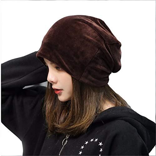 SS Hut Herbst-und Winter-Plüsch-Kopfbedeckung, Normallack-Stapel-Kappe, einfach und zufällig, Ohr-Schutz-Kopfbedeckungen Kappe,F