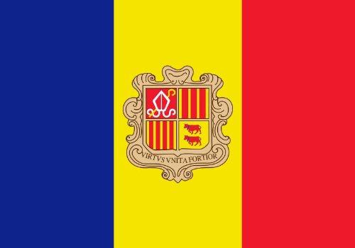 Michael & Rene Pflüger Barmstedt 8,4 x 5,4 cm Autoaufkleber Fahne von Andorra Sticker Aufkleber fürs Auto Motorrad Handy Laptop