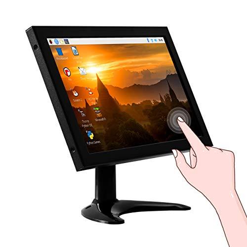 Raspberry Pi Display, ELECROW 10,1-Zoll Touchscreen Monitor mit Fernbedienung und integrierten Dual-Lautsprechern, 1280 x 800 PC Bildschirm mit HDMI/VGA/AV/BNC-Anschlüssen für Raspberry Pi, PC