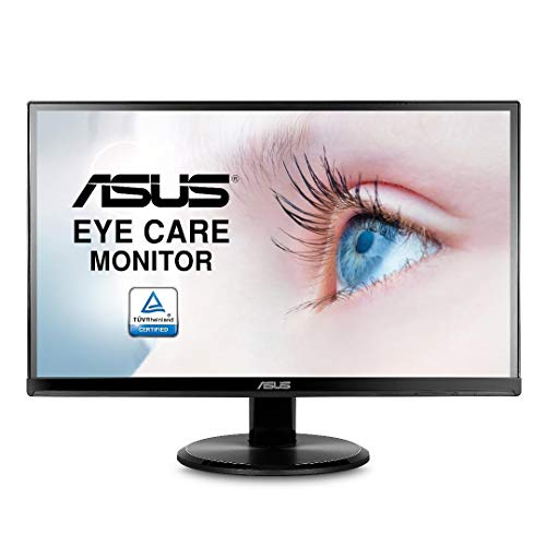 ASUS VA229HR - Pantalla para Ordenador (21 Pulgadas FHD, Pantalla IPS 16: 9 – 75 Hz, 5 ms, 1920 x 1080 cm, 250 CD/M2, HDMI y VGA, sin filtros, Incluye Altavoces y filtros de luz Azul) Negro