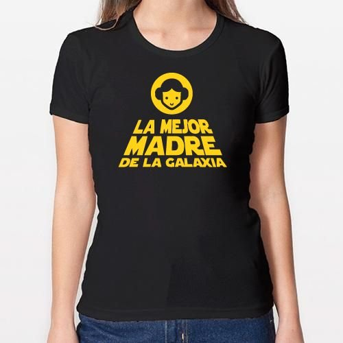 Positivos Camisetas Mujer/Chica - diseño Original La Mejor Madre de la Galaxia - XL