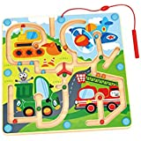 Toysters Wooden Magnetic Bead Vehicle Maze...