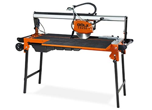 GÖLZ TS250 Fliesentrennmaschine TS 250 – Bridge Head – Tile Cutting Machine for Professional Use. – Made in Germany, Black, Orange