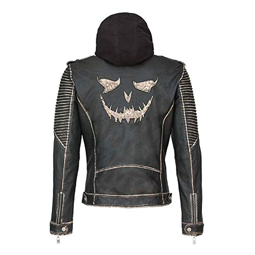 Joker The Killing Jacket - Schwarze Lederjacke in Schwarz (L)