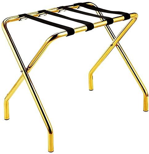 GDFEH Soportes para maletas Soporte de Equipaje Tablas de equipaje plegables Maleta de hotel de dormitorio, soporte de depósito de equipaje de acero inoxidable Soporte de equipaje para dormitorio Faci