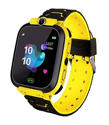 Kinder Intelligente Uhr Wasserdicht, Smartwatch mit LBS Tracker SOS Handy Touchscreen Spiel Kamera Voice Chat Wecker, Geschenke Geburtstag für Jungen und Mädchen