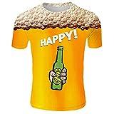 CAOQAO Camiseta Hombre Fashion 2019 Nueva Camiseta de Verano