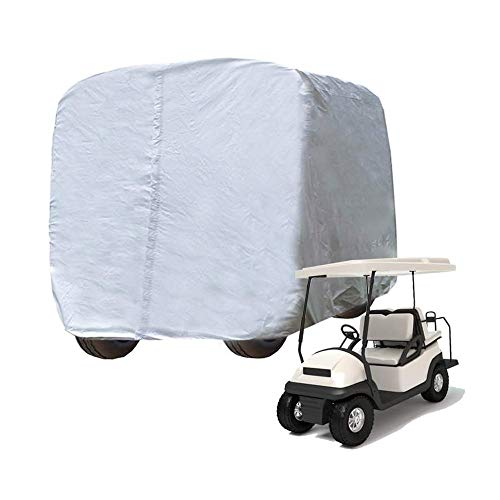 Kayme 4 Passenger Golf Cart Cover, 4 Layers Heavy Duty Outdoor Cover for Ez Go Club Car Yamaha Golf...
