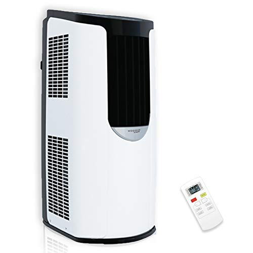 Iris Ohyama - Aire acondicionado portátil, 3 modos ventilación, función de sueño y autolimpieza, temporizador y control remoto 8870 BTU/h - Portable Air Conditionner IHP-0901G-E - 39,5 x 31,5 x 77 cm
