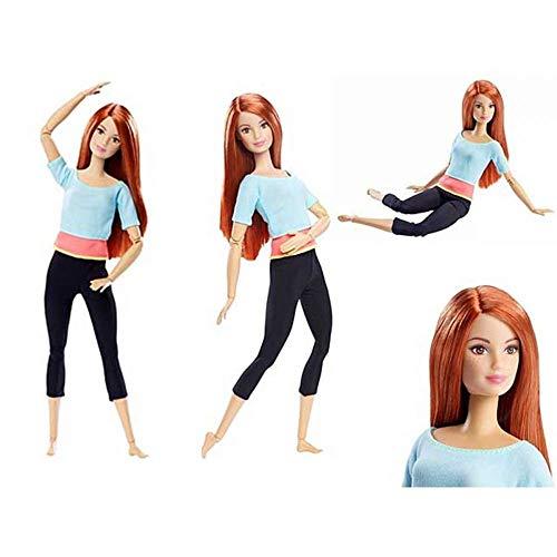 Barbie- Made to Move Bambola Snodata, 22 Punti Snodabili, Multicolore, DPP74