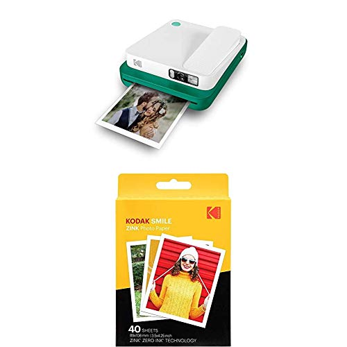 KODAK Printomatic - Cámara de impresión instantánea, Verde+ Paquete de 40 Hojas