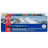 Caran d'Ache matériaux art créatif et soluble dans l'eau de cire pastel set (lot de 30) multicolore