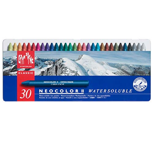 Caran d'Ache NeoColor 2 Water Soluble Wax Pastel Set 30/Pkg-