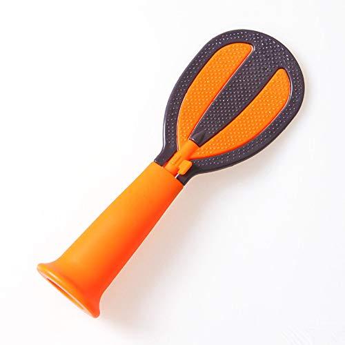QTKJ 3 Kleuren Leuke Aziatische Keuken Niet Stick Tafel Rijstlepel Tool, PP Creatieve Huishoudelijke Rijstlepels Rijstkoker Gevulde Scoop Shovel(Orange)