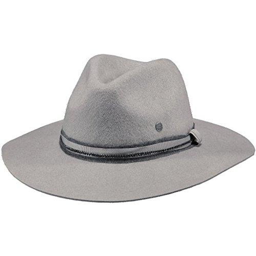 Barts Barts Damen Fedora Alexia Hat, Grau (Grigio Chiaro Con Nastro in Pelle Nero), M