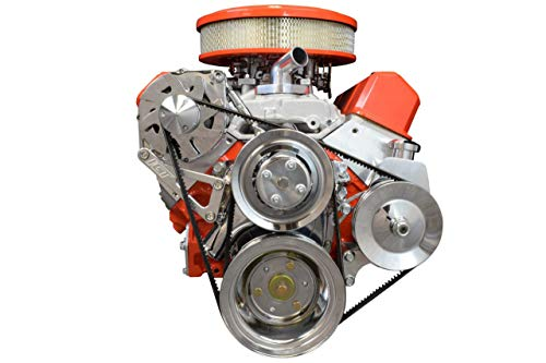 ICT Billet SBC Billet Adjustable Alternator Power Steering Bracket Kit LWP Chevy Small Block 551476