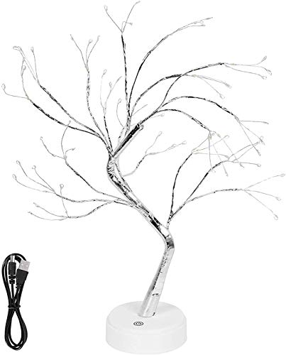 Tree lamp Lighted Birch Tree 108 led twig Tree,Bonsai Tree Light Cherry Blossom Table lamp Multicoloured,Pearl twig Light Branches Tree Light,Tabletop Bonsai Tree Light (108LED Green)