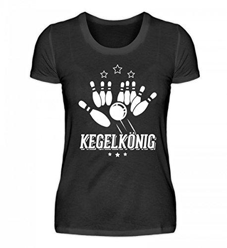 Chorchester Hochwertiges Damenshirt - Kegelkönig - Für Alle Kegler!