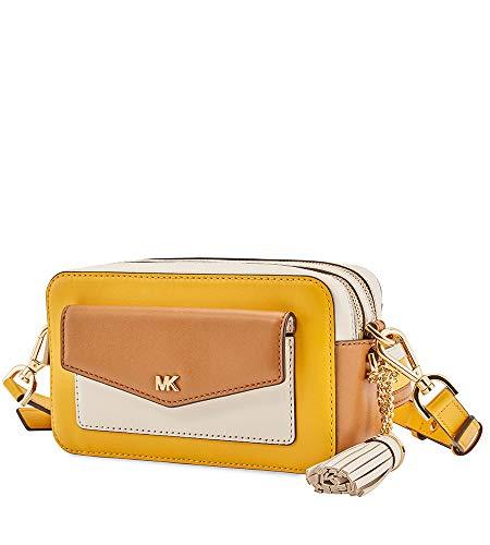Michael Kors Small Tri-Color Leather Camera Bag- Jasmine Yellow/Multi