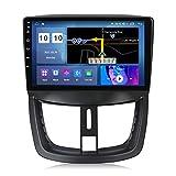 Estéreo para Coche para Peu-geot 207 2006-2015 Radio Navegación GPS Android 10.0 DSP Carplay 10.1 Pulgadas IPS Pantalla táctil BT 4G WiFi SWC con cámara de Respaldo