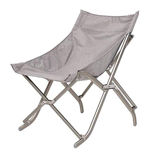 AOIWE Silla Que acampa Plegable Camping al Aire Libre sillas Plegables de aleación de Aluminio Compacto Sillas Moon Portable Pesca de Playa de jardín, 2 Colores (Color : Gray)