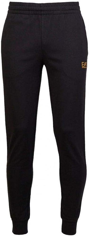 Emporio Armani EA7 Mens 8NPP53 Metalic Logo Cotton Track Pants