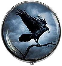 Raven Pill Box,Candy Box, Raven Pill Box, Crow Pill Box, Bird Jewelry, Steampunk Gothic Candy Box, Black Bird Candy Box