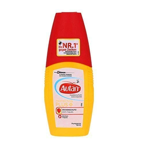 Autan Protection Plus ZECKENSCHUTZ Anti Tiques Pumpspray, 3er Pack (3x100ml)