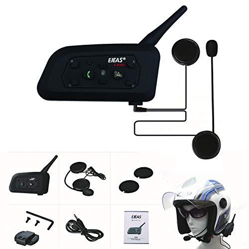 Auriculares De Casco De Motocicleta Bluetooth, Sistema De Interfono De Intercomunicación Inalámbrica Bluetooth, Navegación De Voz Estéreo De Manos Libres Respuesta Al Teléfono MP3 Impermeable,1pcs
